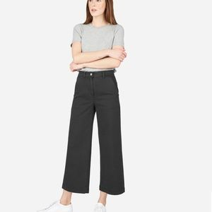 Everlane wide leg crop (BLUE)